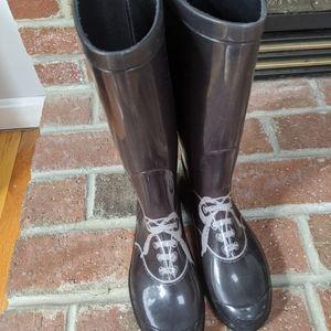 Marc Jacobs rain boots size 38 black